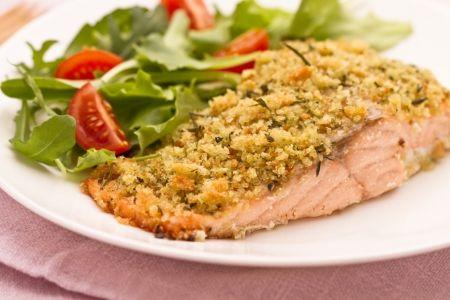 Salmon fillet in crust