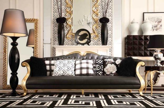 Best gold living rooms juegos de comedor decoracion de - Juegos decoracion de interiores ...