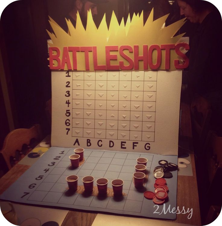 2MESSY: DIY ~ Battle Shots Drinking Game