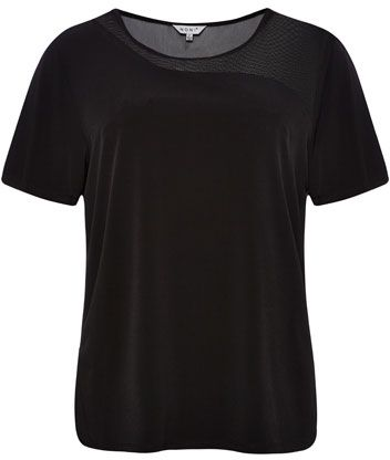 NONI + Jersey And Mesh Top $89.95 AUD  Separates to suit short sleeve round neck jersey top with mesh angular panel on fron and back with side splits 94% Polyester 6% Spandex Trim 100% Nylon  Item Code: 046879