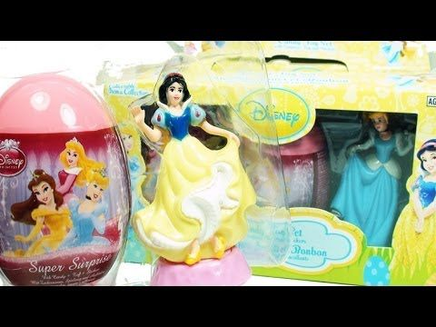 Disney Princess Candy Toy Set Surprise Eggs Snow White Edition - DisneyToyCollector!  WOW Disney Princess Candy Toy Surprise Eggs Set Unboxing, featuring Snow White! Lots Of Surprises With The Famous Kinder Surprise and Kinder Joy!!
