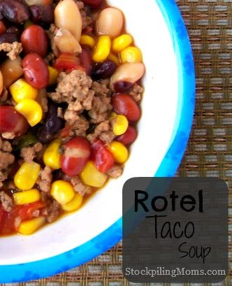 This Taco Soup is perfect to put in the crockpot and let it cook away all day!