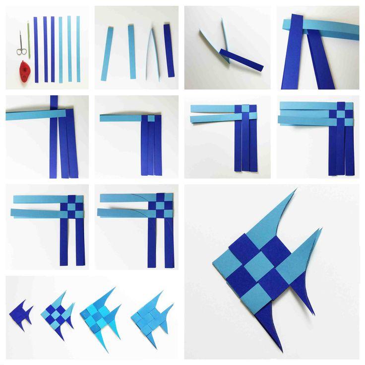 Origami Fisch #falten #Papier #Meeresbewohner #Falttechnik #fish #folt #maritim