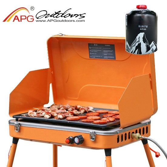 155.00$  Watch now - http://aliyxl.worldwells.pw/go.php?t=32217003934 - APG portable gas bbq grill  gas burners for bbq and foldable bbq stoves churrasqueira a gas 155.00$