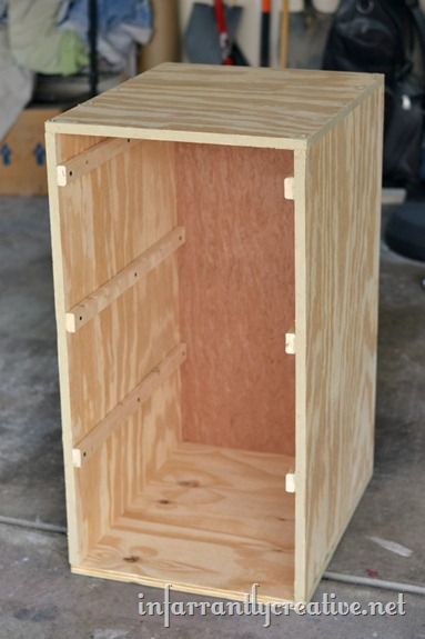 Laundry Basket Dresser. Great idea for early sorting, and vertical storage!