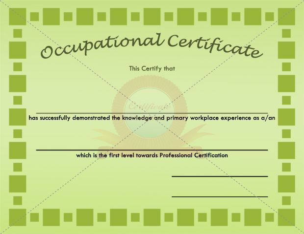 15 best occupational certificate templates images on pinterest occupational block certificate template yadclub Gallery