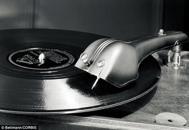 Sales of record players have risen 240 per cent at John Lewis in the first few months of this year compared to same period in 2014 and sales for vinyl albums are up 69 per cent compared to a year ago (file picture)