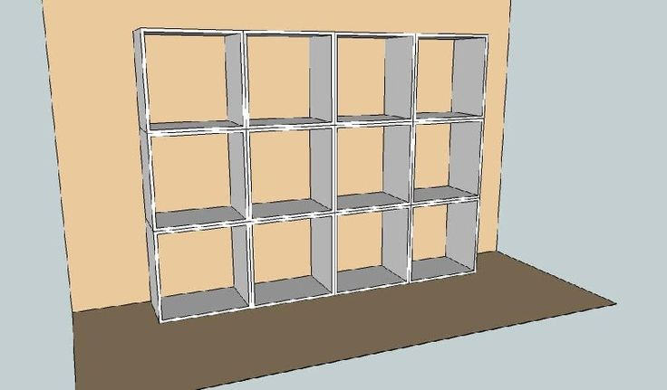 Design created by Dimension Cabinets, Shelving stack for display or room division.