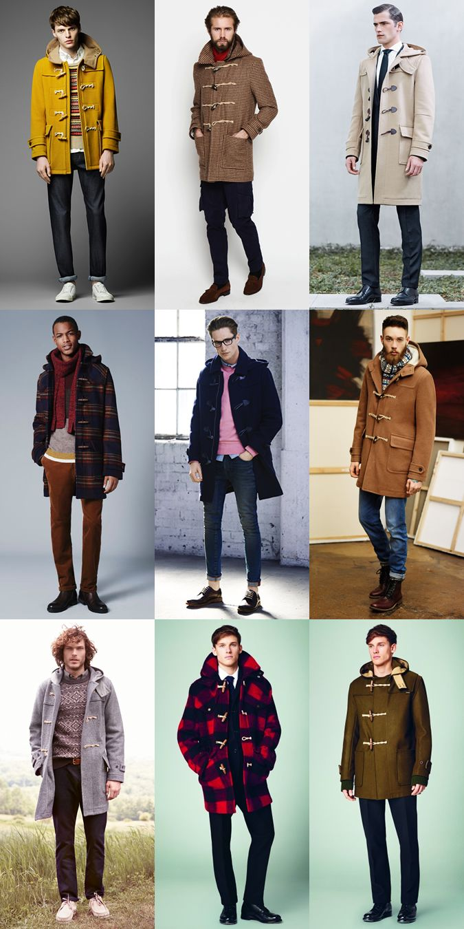 Men's Duffle Coats - Autumn/Winter Outfit Inspiration Lookbook