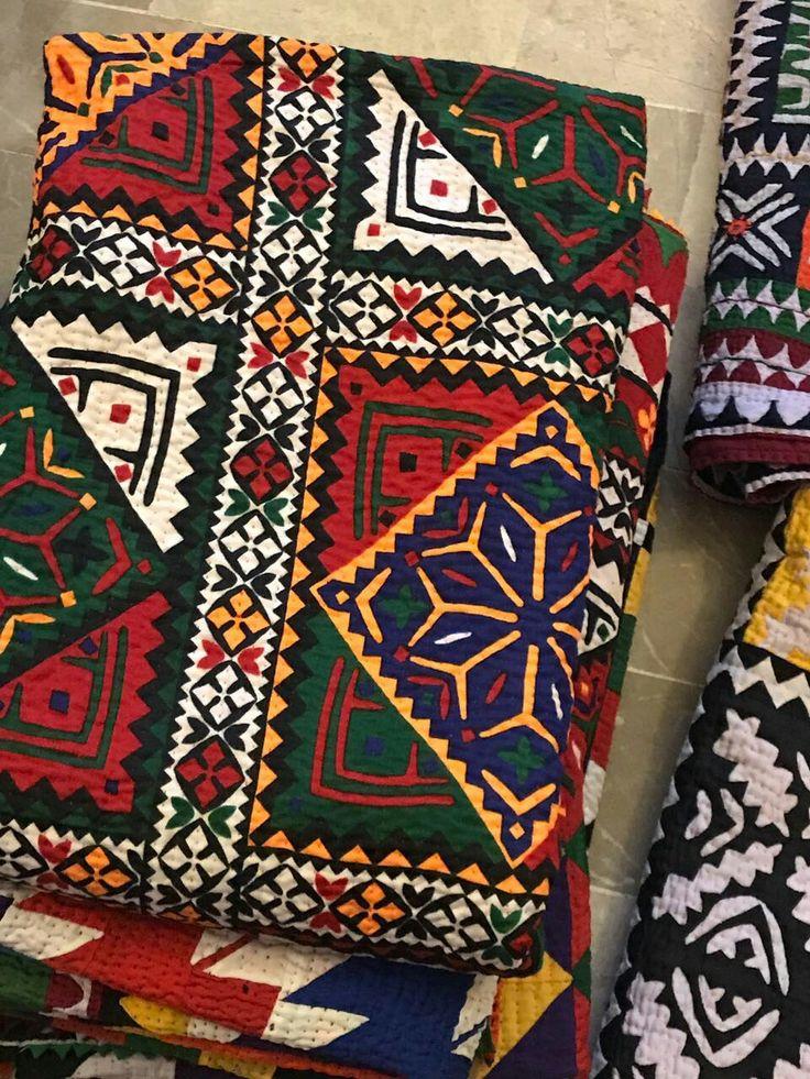 By Rida Sindhi Bed Applique Applique Designs