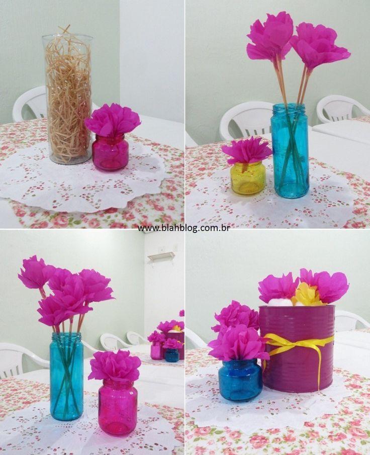 arranjos para mesa festa diy decoração festa