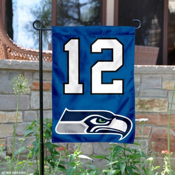 Seattle Seahawks 12th Man Garden Flag is 12.5x18 inches in size, is made of 2-ply polyester, and has two sided screen printed logos...