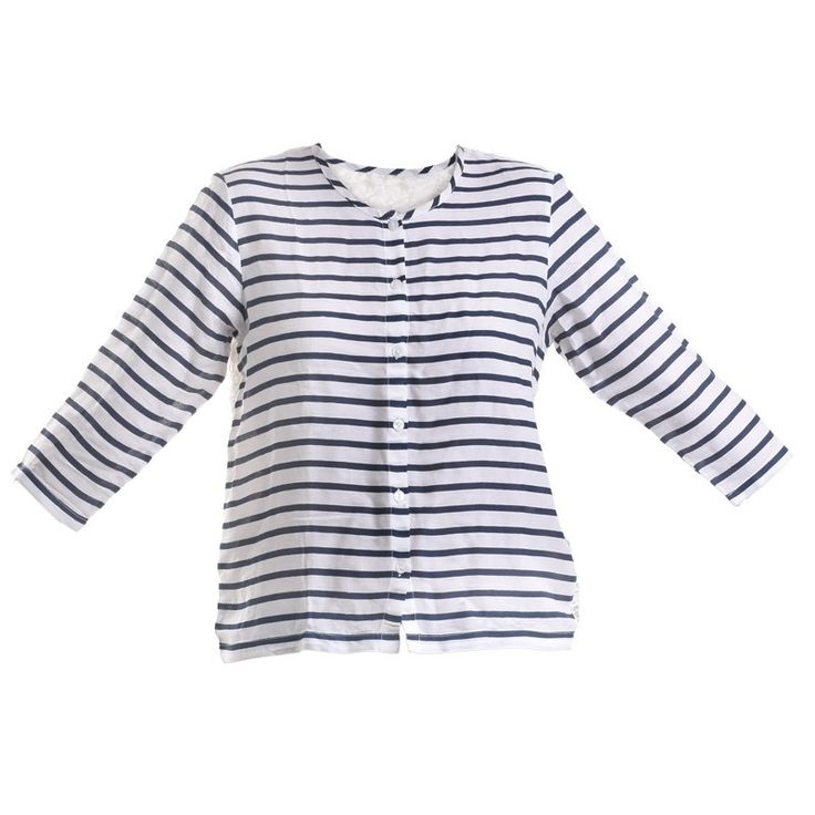 BLOUSE WITH STRIPES AND LACE - Blouses-Shirts - Clothes