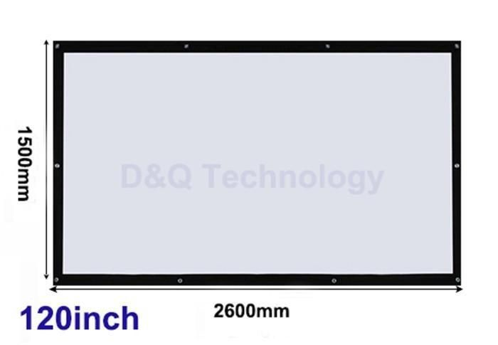 120 inch 16:9 Portable Wall Mounted Outdoor Projector Screen #projectorscreen