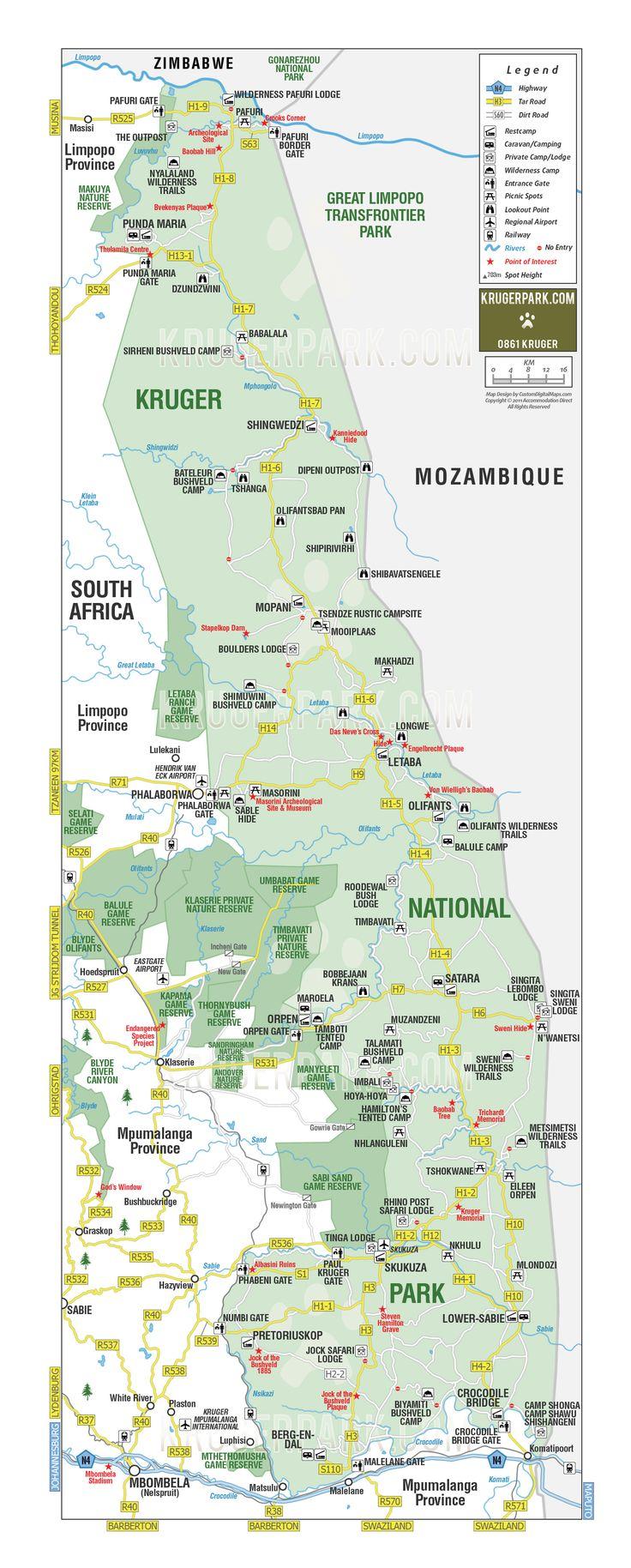 Northern section of Kruger National Park, South Africa.Skuskuza rest camp by Paul Kruger Gate