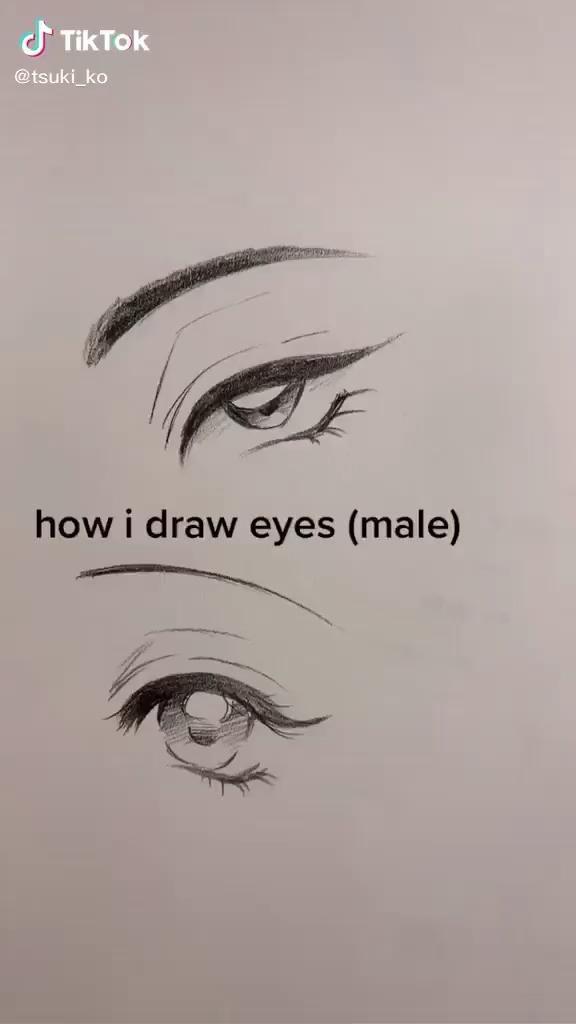 How To Draw Eyes Tiktok Edit Aesthetic Video Eye Drawing Drawings Art Drawings Sketches