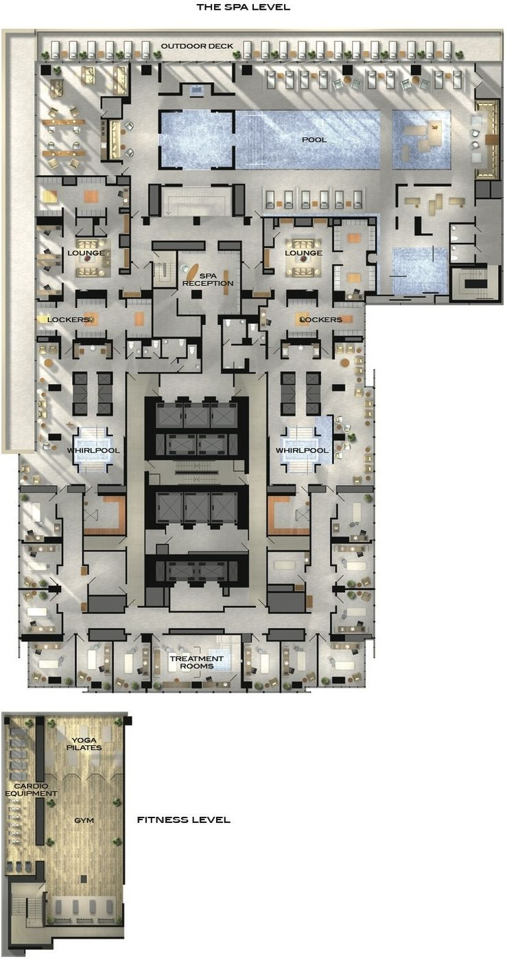 Four Seasons Hotel and Private Residences Toronto - Amenities Plan