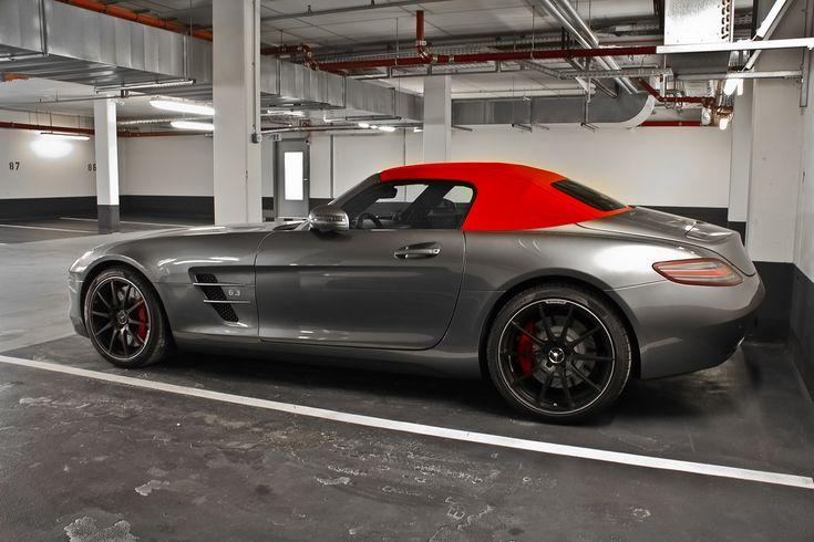 Grey Amp Red Top Mercedes Benz Sls Amg Roadster Dream Cars