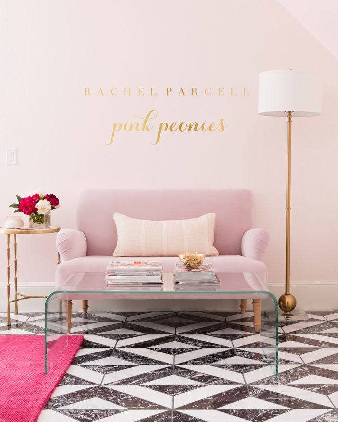pink-peonies-pink-office-space-decor - 1