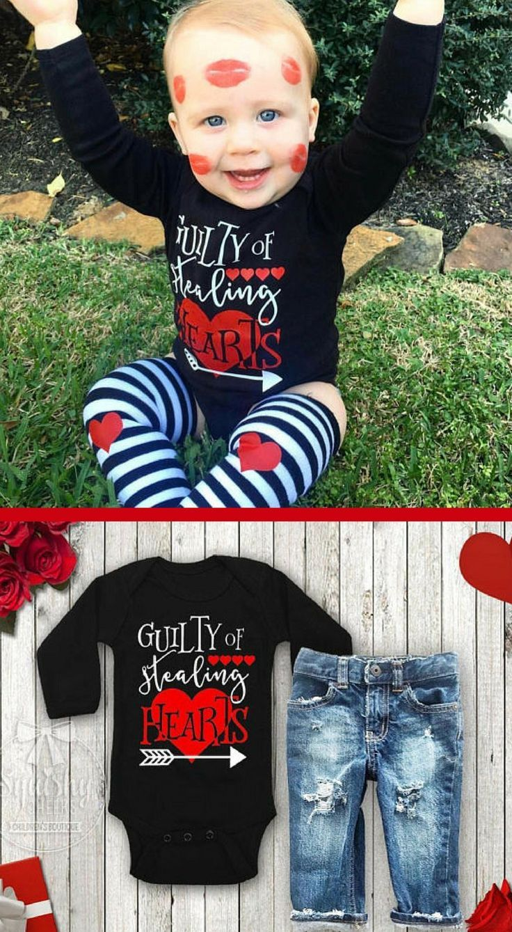 Valentine S Day Outfit For Kids Guilty Of Stealing Hearts Shirt