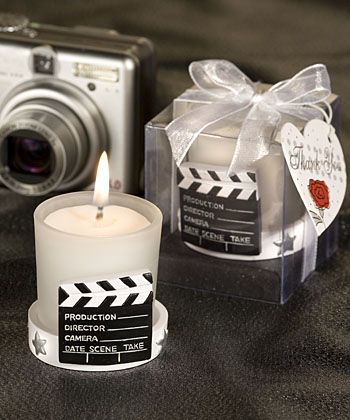 Candle favors movie theme