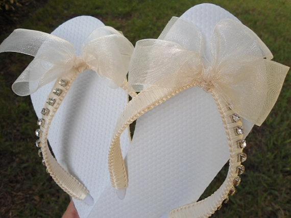 KATE bridal flip flops