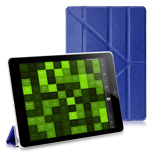 Smooth PU Blue Leather Hexagon Stand Cover Case for iPad Air #ipadcase #ipadair #leathercase #standcase #hexagoncover #photooftheday #bestoftheday #bestipadcase #cute #lovelycase #popularcase #ipadcover #pinterest #wholesaleprice #wholesalecases $9.90