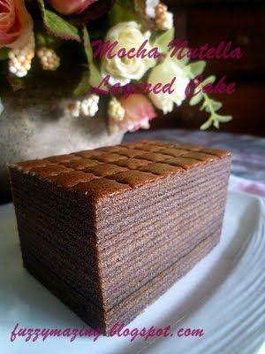 BitterSweetSpicy: Mocha Nutella Layered Cake