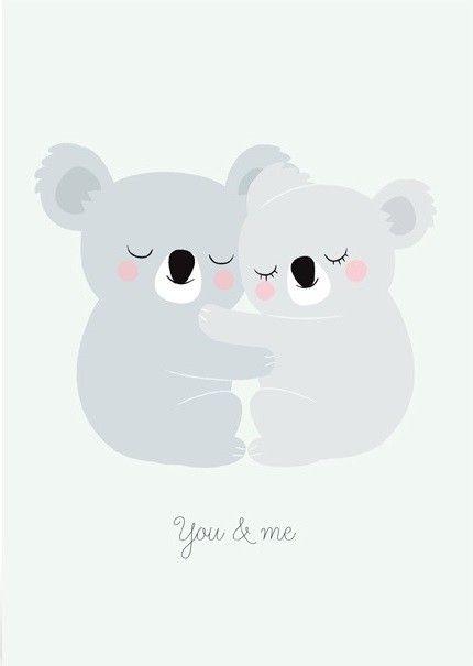 Zü poster A5 koalas You&Me 14.8 x 21 cm