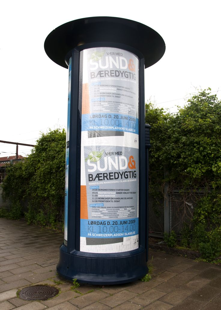 Plakater for kampagnen var synlige rundt omkring i byen.