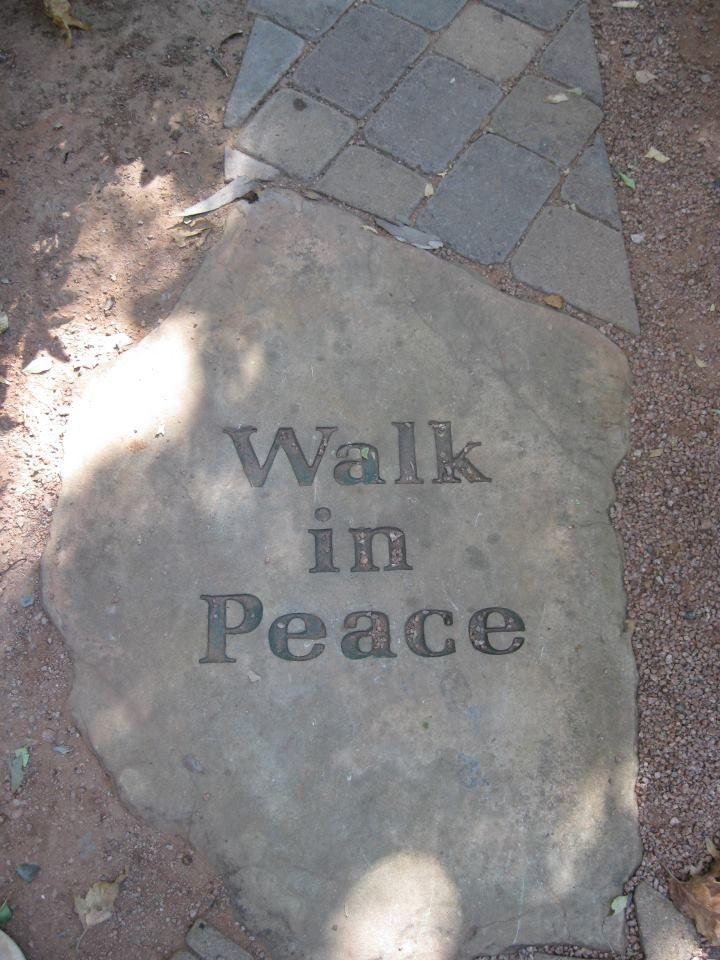 LOVE --> walk in peace garden paver