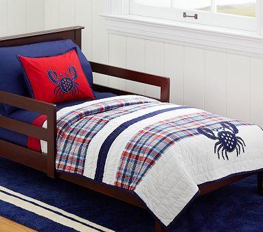 Crab Madras Toddler Quilt Toddler Quilt Quilt Bedding Bed