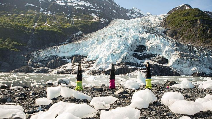 Yoga in Strange Places: Stretching on an Alaskan Glacier (PHOTOS) | The Weather Channel