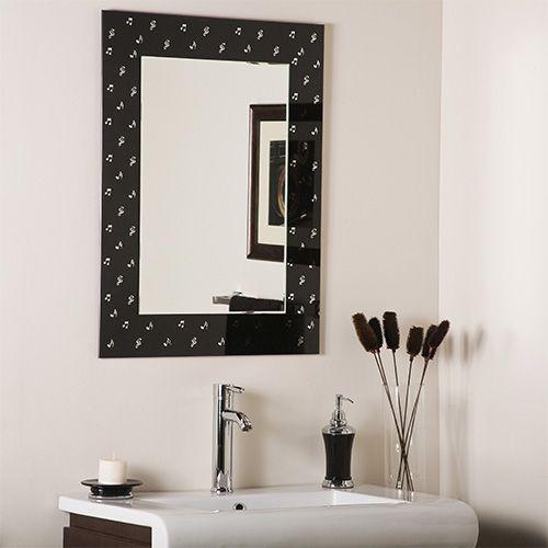 Carnagie Hall Music Rectangular Beveled Framed Wall Mirror