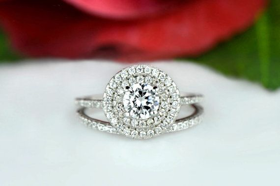 Hey, I found this really awesome Etsy listing at https://www.etsy.com/listing/243078653/34-ctw-round-double-halo-ring-bridal