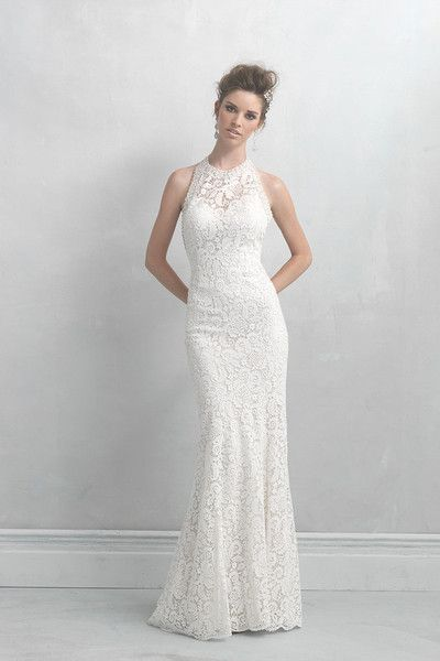 This Madison James dress is perfect for the slightly mod, sophisticated bride! @allurebridals