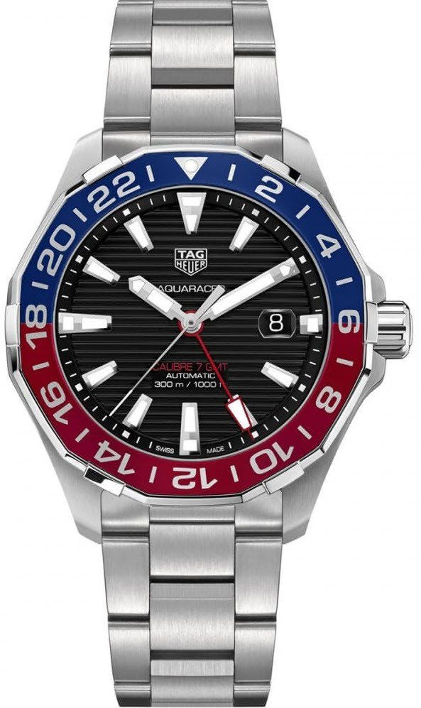 @tagheuer  Watch Aquaracer Calibre 5 GMT Pre-Order #add-content #basel-17 #bezel-unidirectional #bracelet-strap-steel #brand-tag-heuer #case-depth-12mm #case-material-steel #case-width-43mm #date-yes #delivery-timescale-call-us #dial-colour-black #gender-