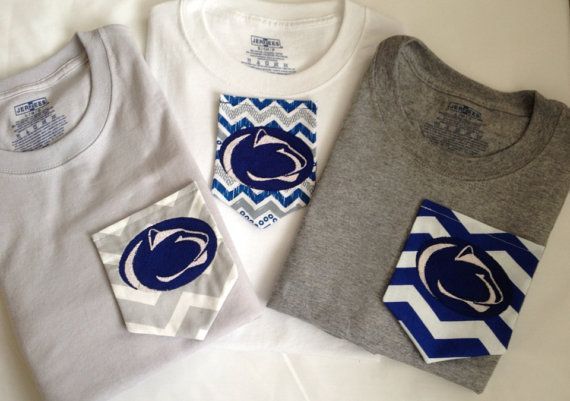 Penn State Monogram Pocket T Shirts