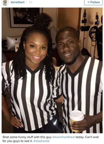Kevin Hart and his ex-wife Torrei Hart working together (Photo)