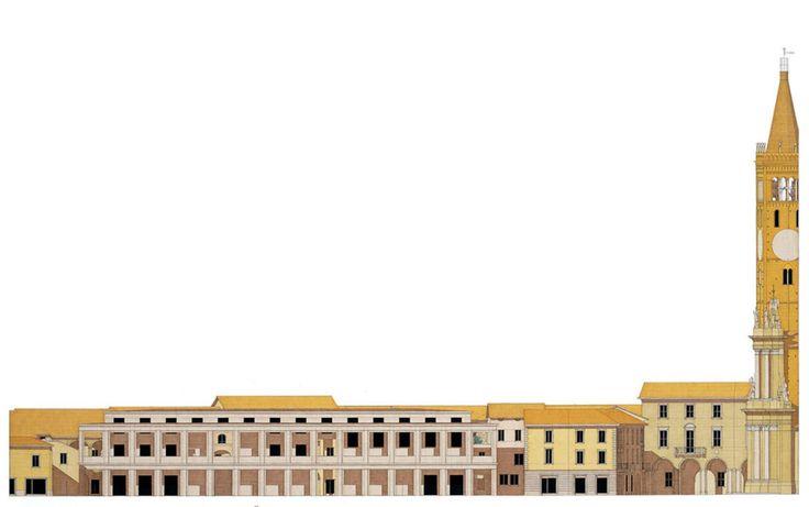 Giorgio Grassi | Edificio Publico en la plaza Garibaldi | Treviglio, Italia | 1999
