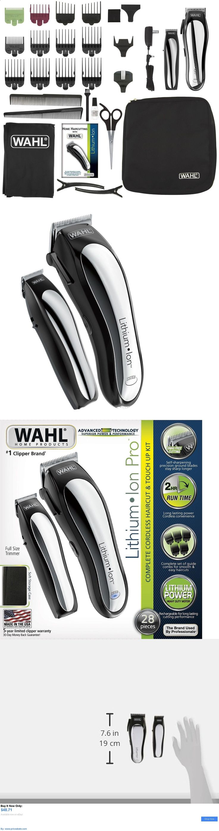 Shaving: Cordless Hair Clippers Trimmer Wahl Professional Cut Shaver Salon Barber Kit Pro BUY IT NOW ONLY: $48.71 #priceabateShaving OR #priceabate