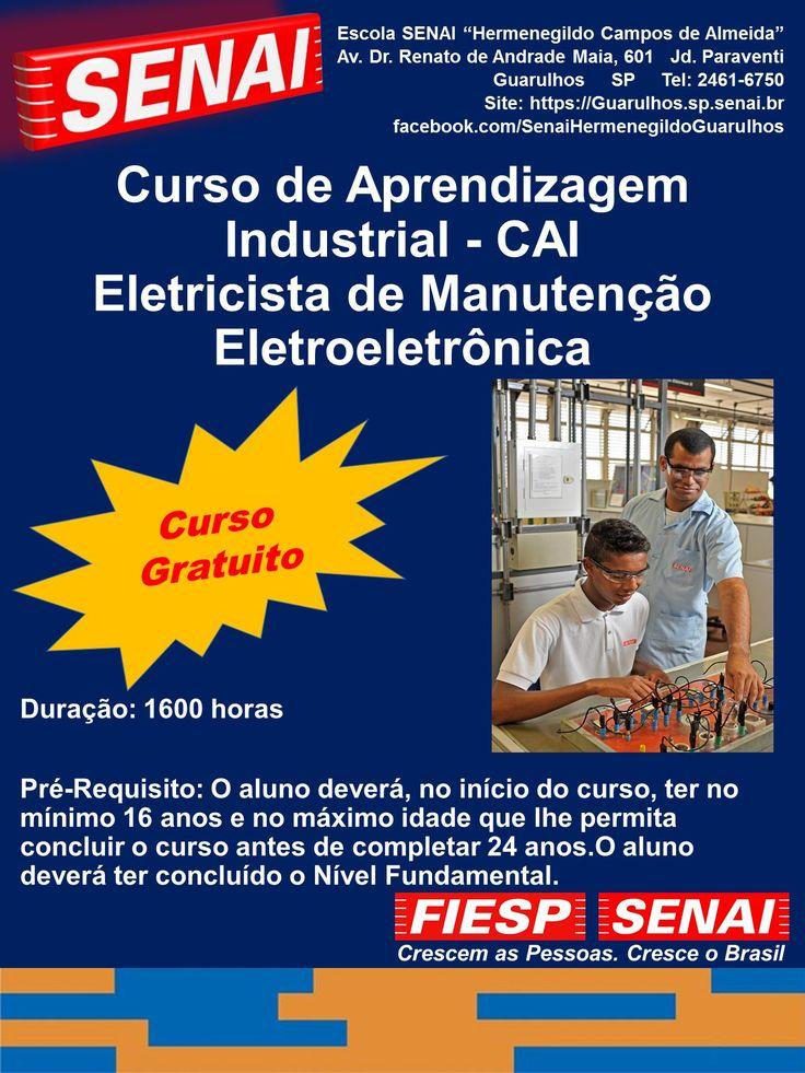 O curso de Aprendizagem Industrial Eletricista de Manutenção Eletroeletrônica tem por objetivo proporcionar qualificação profissional na instalação e manutenção de sistemas eletroeletrônicos em baixa tensão, de acordo com normas técnicas, de qualidade, de saúde e segurança no trabalho e de meio ambiente.
