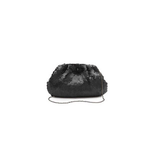 One of our favorite categories just because it's so pretty. You need only one or two of these inaneutral shade that goes with everything.Santi Sequin Clutch, $247 at Shopbop.