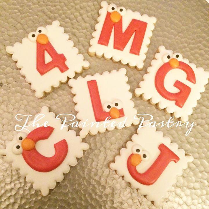 Elmo letter cookies