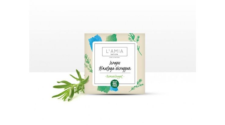 """SOAP """"HIMALAYAN MUD SALT, ROSEMARY"""" made by L'AMIA"""