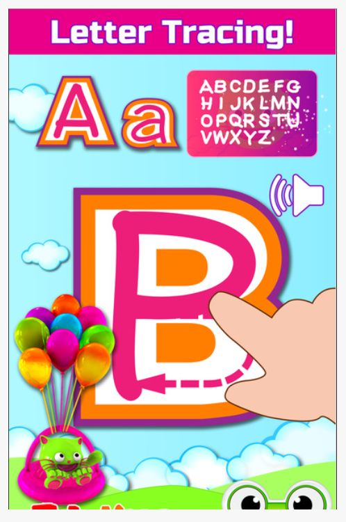 ABC Alphabet Learning Games for Kids - EduKitty ABC (App) => Writing Support Tool [Practice Writing the Letters of the Alphabet]