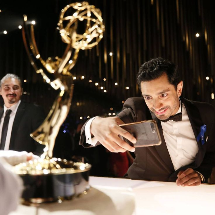 """4,238 Likes, 21 Comments - Variety Magazine (@variety) on Instagram: """"#TheNightOf star @rizahmed documents his trophy engraving at the Governors Ball #Emmys (Photo…"""""""