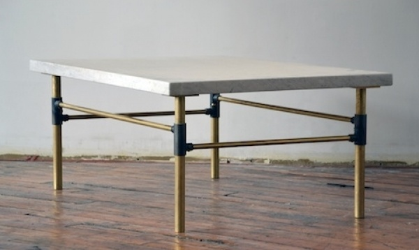 Marble coffee table reclaimed from old BMO facade in Toronto - Castor: Design Tables, Style Furniture, Sweet Tables, Marbles Coffee Tables, Bmo Marbles, Marbles Tables, Marbles Kitchens, Castor Design, Marble Tables