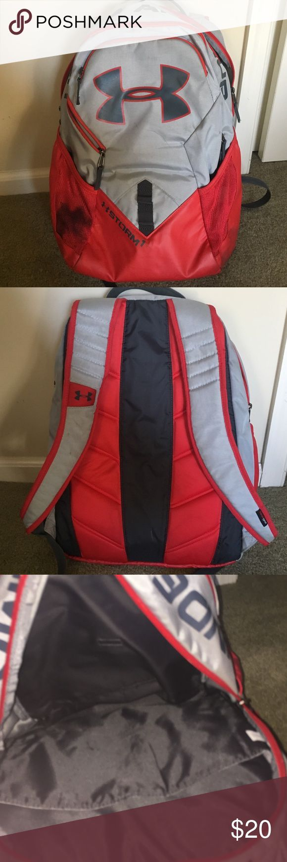 Under armor backpack Only used a few weeks great condition, small stain on the side from pencil led. Under Armour Bags Backpacks