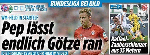 JustWatched+same min a goal for @FCBayern s.t. 1:0+#Goetze plays+finally,otherwise too nice,sitting only+mio EUR lol http://www.bild.de/bundesliga/1-liga/saison-2015-2016/fc-bayern-muenchen-gegen-sv-werder-bremen-am-26-Spieltag-41818676.bild.html